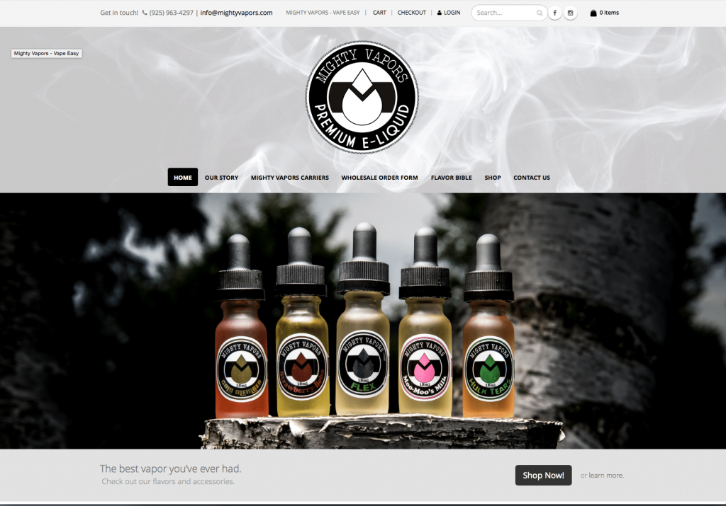 Mighty Vapors Ecommerce Site