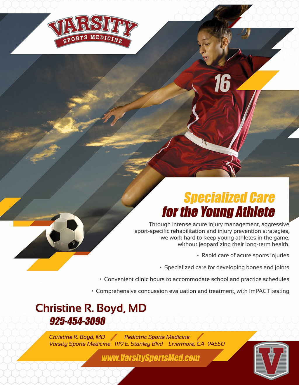 Varsity Sports – Girls Print Ad